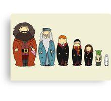 Potter-themed Nesting Dolls Canvas Print