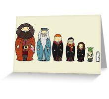 Potter-themed Nesting Dolls Greeting Card