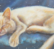 Cat Art - Morfeo and the Moon Sticker