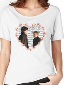 Johnlock-Heart (Two) Women's Relaxed Fit T-Shirt
