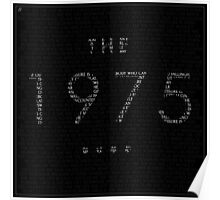 The 1975 Song List Poster
