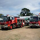 Firefighters on display by roybob