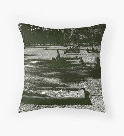 the cemetery at Martinsville Throw Pillow