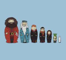 Potter-themed Nesting Dolls Kids Tee