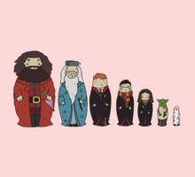 Potter-themed Nesting Dolls One Piece - Long Sleeve