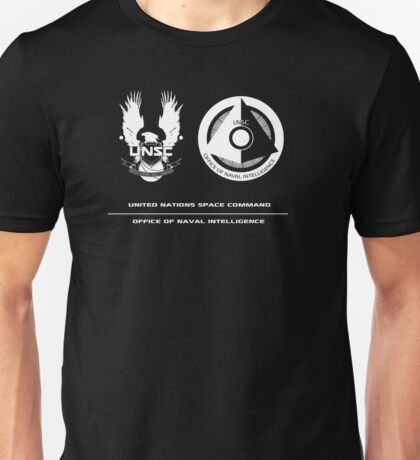 UNSC ONI Black logo Unisex T-Shirt