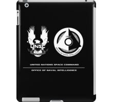 UNSC ONI Black logo iPad Case/Skin