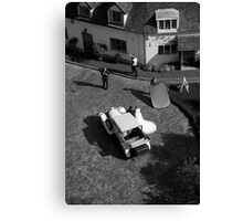 wedding from above Canvas Print