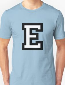 Letter E two-color Unisex T-Shirt