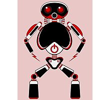 Red Power Robot Photographic Print