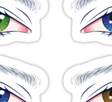 Colorful Male Eyes 2 Sticker