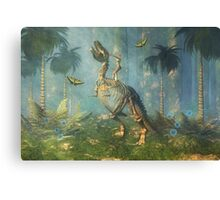 Dinosaur Warrior Canvas Print