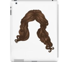 Curly hair of brown color iPad Case/Skin