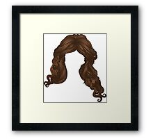 Curly hair of brown color Framed Print
