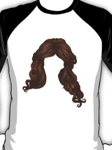 Curly hair of brown color T-Shirt