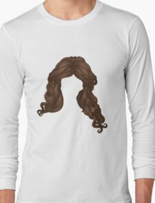 Curly hair of brown color Long Sleeve T-Shirt