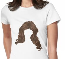Curly hair of brown color Womens Fitted T-Shirt