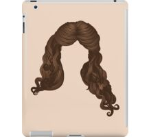 Curly hair of brown color 2 iPad Case/Skin