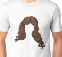 Curly hair of brown color 2 Unisex T-Shirt