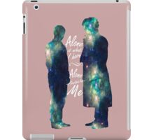 """Johnlock """"ALONE IS WHAT I HAVE"""" white letters iPad Case/Skin"""