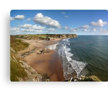 Three Cliffs Bay Canvas Print