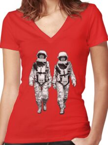The Hero Walk Women's Fitted V-Neck T-Shirt