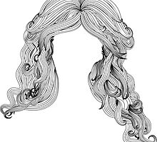 Curly hair style in black and white by AnnArtshock