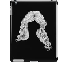 Curly hair style in black and white iPad Case/Skin