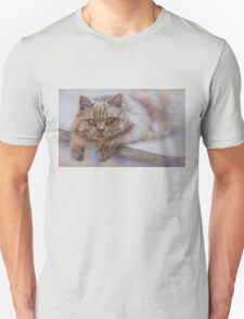Cat Art - Long Haired Cat Staring at You Unisex T-Shirt