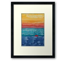 A New Day Dawns original painting Framed Print
