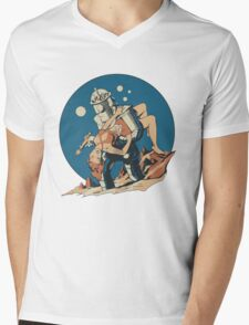 Damsel in Space Mens V-Neck T-Shirt