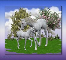 New Born .. unicorn foal by LoneAngel
