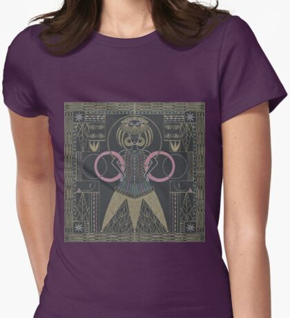 art deco queen Womens Fitted T-Shirt