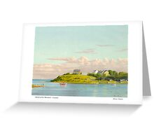 MOUTH OF THE WANSBECK - NORTHUMBERLAND Greeting Card
