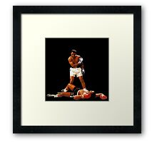 """Falling Lessons"" Ali VS Liston 2, Earth Fists Framed Print"