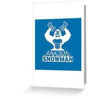 Abdominal Snowman Comeback Title Greeting Card