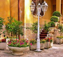 Courtyard Garden by Karen  Rubeiz