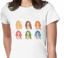 Curly Hair Styles Womens Fitted T-Shirt