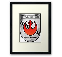 SpecOps Squad 4th, Rebel Alliance.  Framed Print