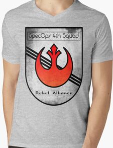 SpecOps Squad 4th, Rebel Alliance.  Mens V-Neck T-Shirt