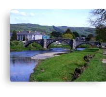 Y Bont Fawr - Llanrwst Bridge -Snowdonia Canvas Print