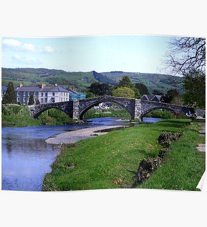 Y Bont Fawr - Llanrwst Bridge -Snowdonia Poster