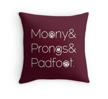 Moony & Pongs & Padfoot Throw Pillow