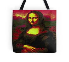 Mona Lisa inverted and colourised Tote Bag