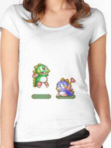 Bubble bobble Women's Fitted Scoop T-Shirt