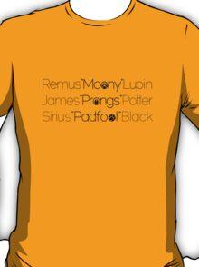 MoonyPadfootProngs(black) T-Shirt