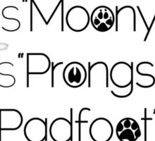 MoonyPadfootProngs(black) Sticker