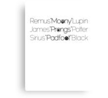 MoonyPadfootProngs(black) Canvas Print