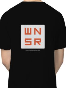 WNSR Zip-Up - Back logo Classic T-Shirt