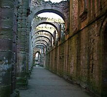 Fountains Abbey - inside the ruin by dougie1